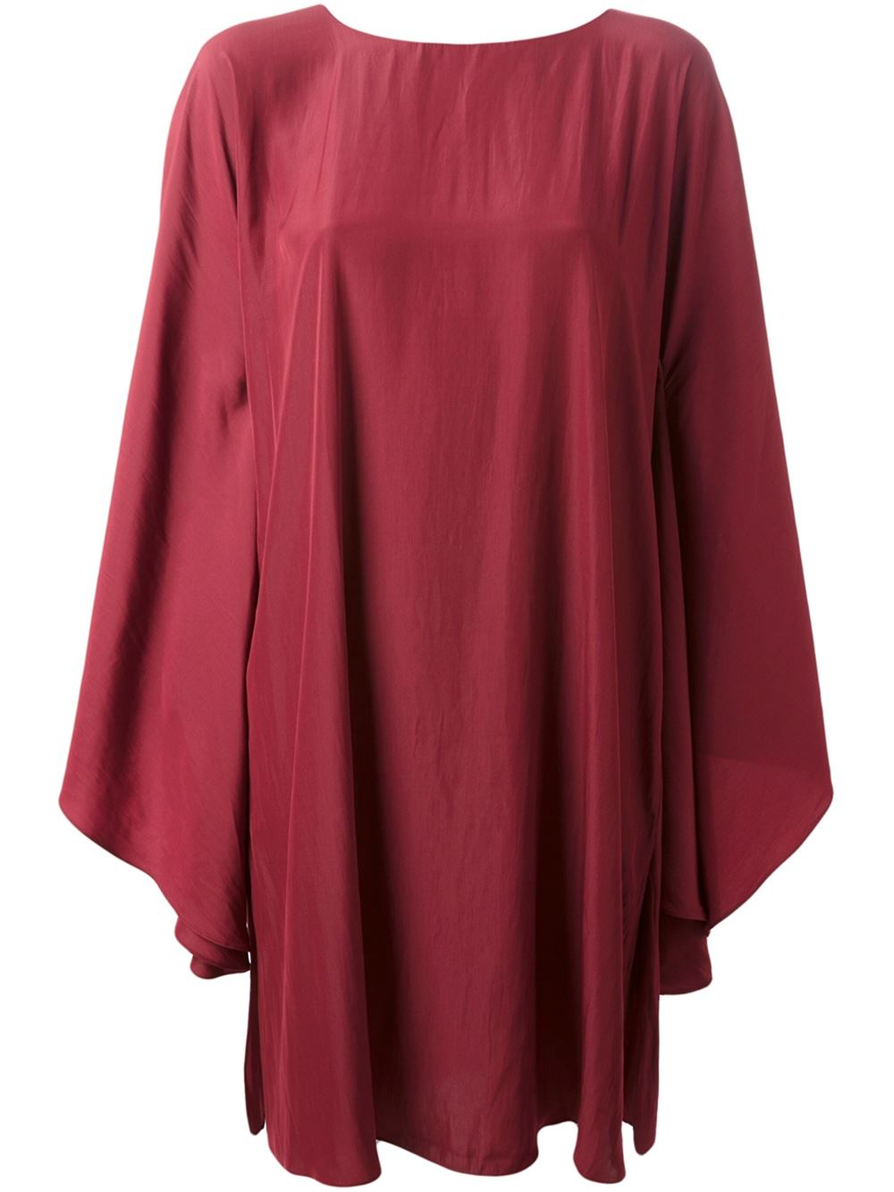 Lanvin Draped Dress in Red | Lyst