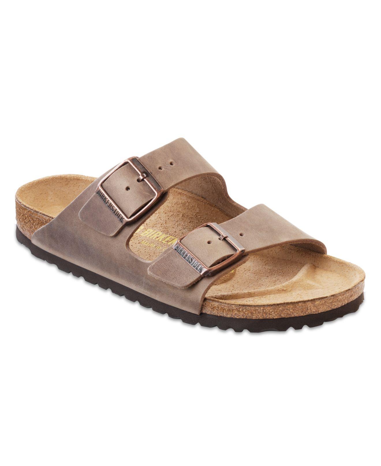 birkenstock antique brown leather arizona slide sandal