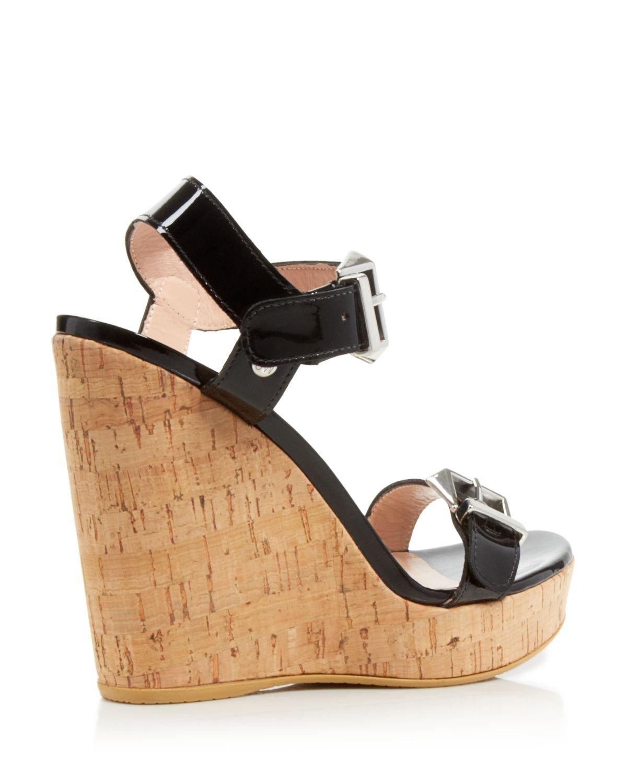 Stuart Weitzman Ankle Strap Platform Wedge Sandals ...