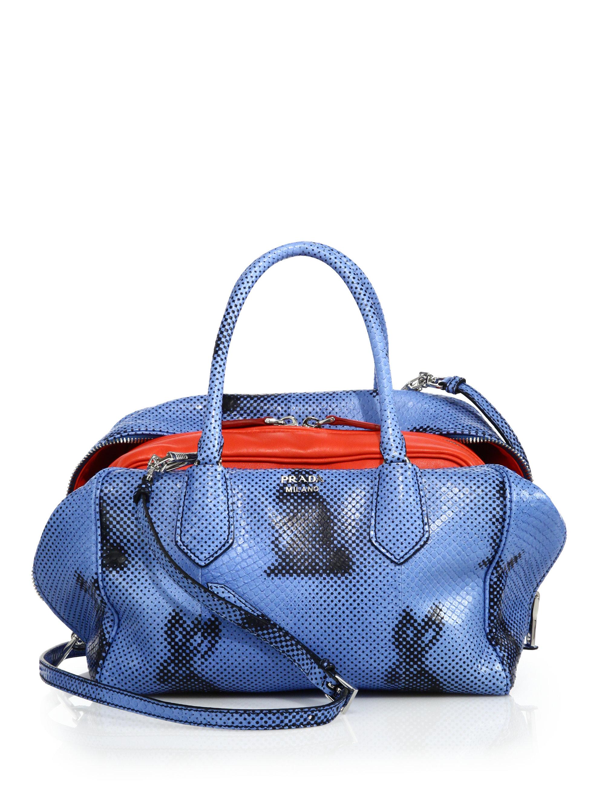 2361ddc9c prada python pouch bag
