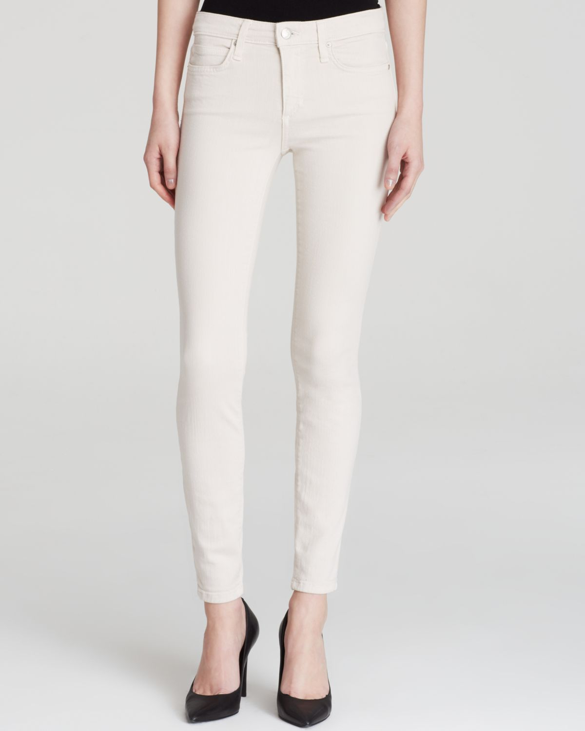Joe's jeans Skinny Ankle White Sand Jeans in White | Lyst