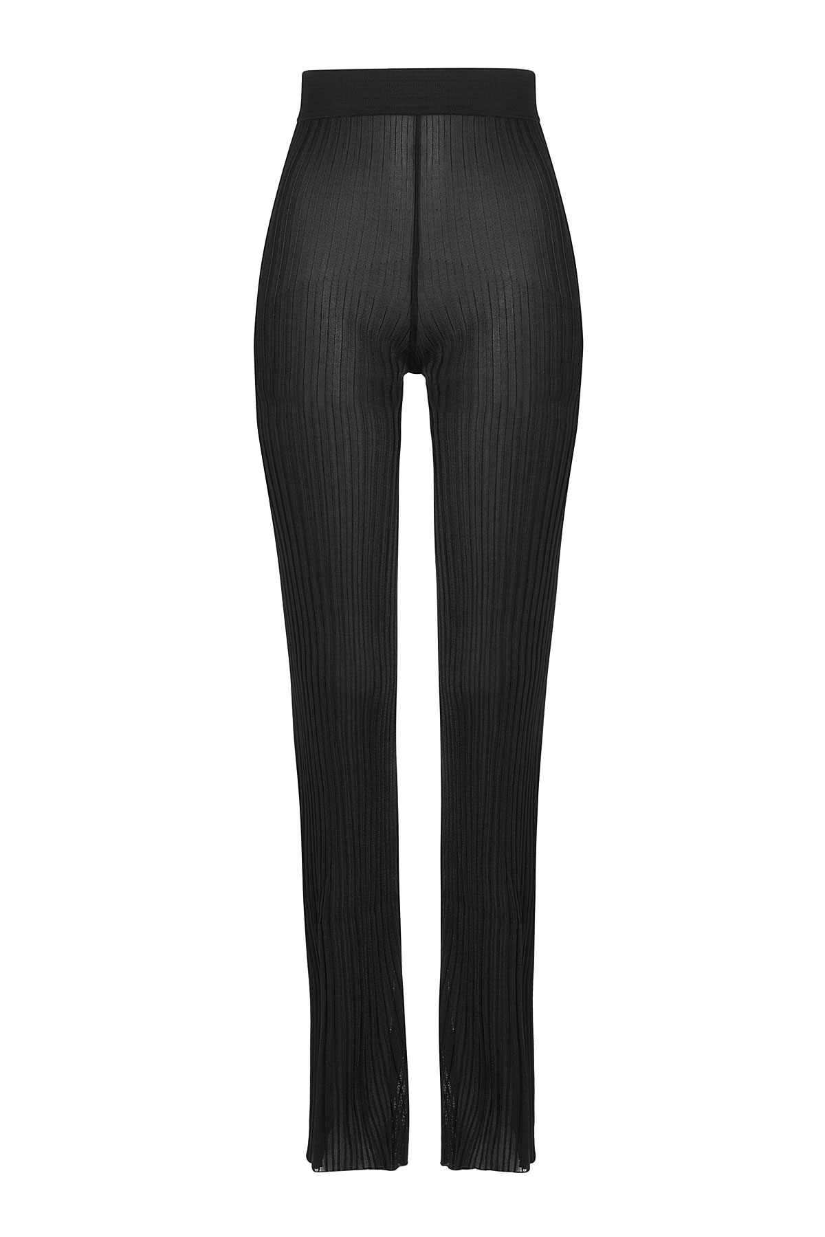 Balmain Knitted Flared Trousers in Black