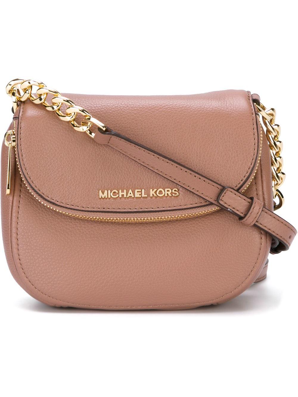 07508ace17d2 Lyst - MICHAEL Michael Kors  bedford  Crossbody Bag in Pink