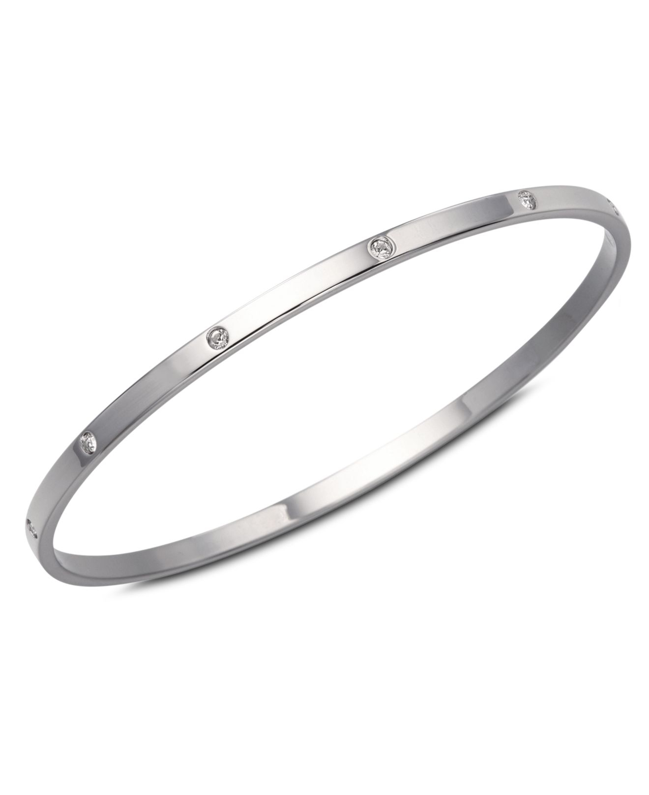 3d0a7aee1 Swarovski Crystal Bangle in Natural - Lyst