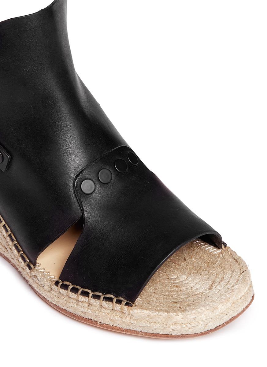 a71795a114f Lyst - Rag   Bone  sayre Ii  Slingback Espadrille Wedge Sandals in Black