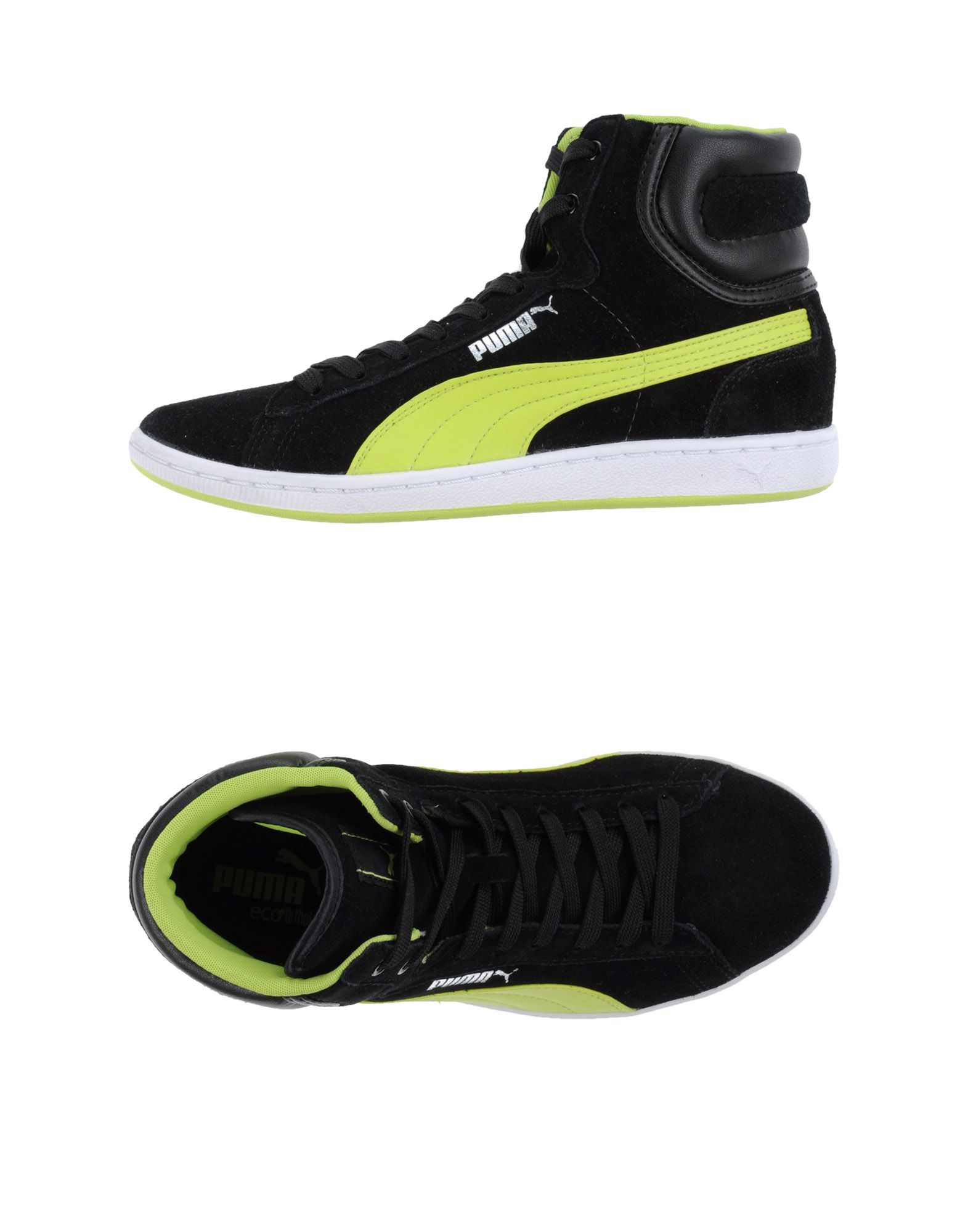puma hightops amp trainers in black for men lyst