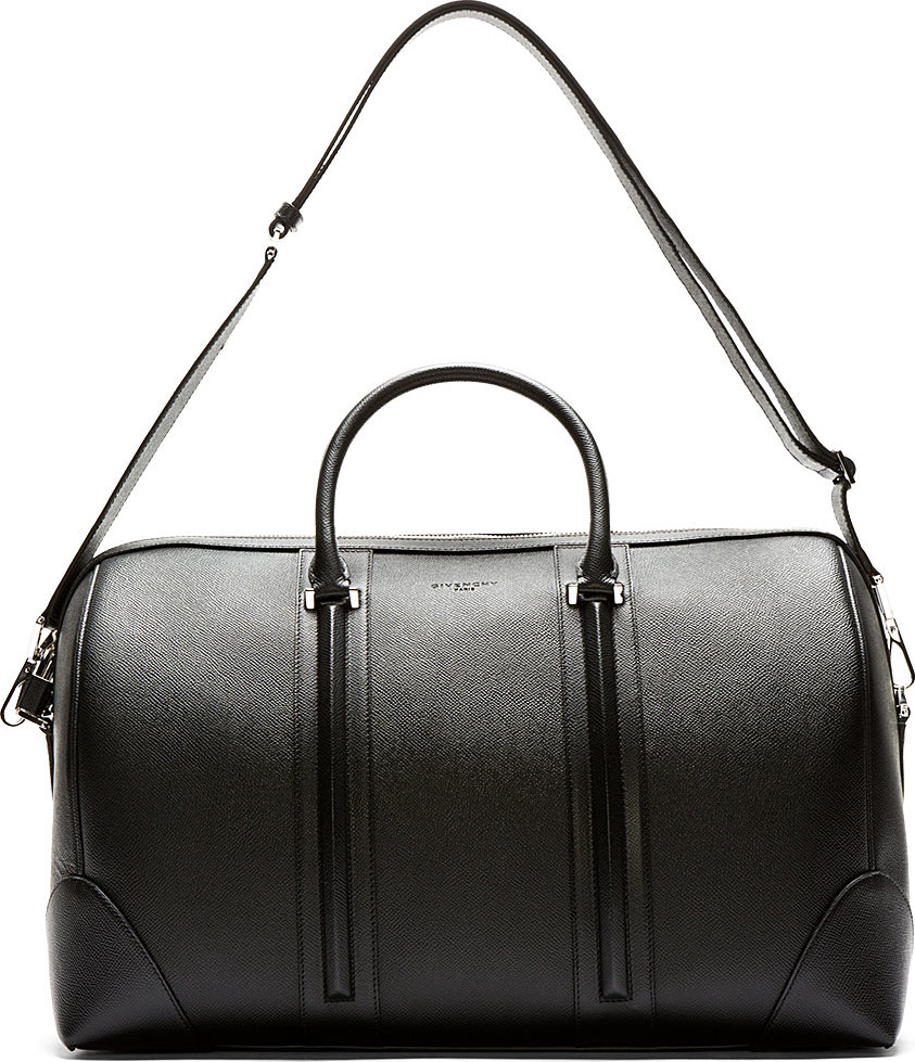 25390a177c77 Lyst - Givenchy Black Leather Weekend Duffle Bag in Black for Men
