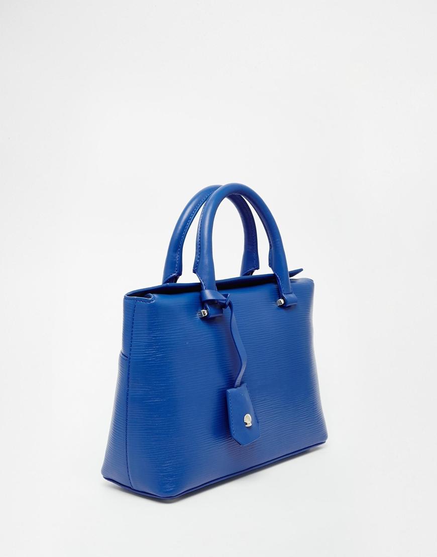 Modalu Leather Mini Tote Bag in Blue | Lyst