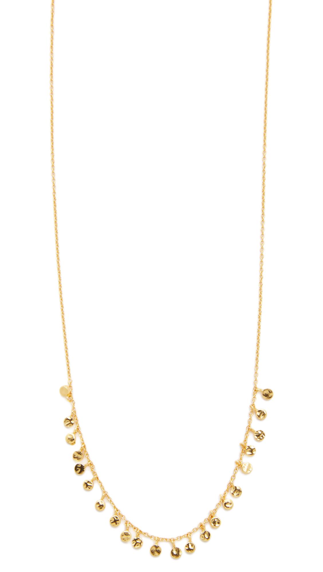 gorjana mini necklace in metallic lyst