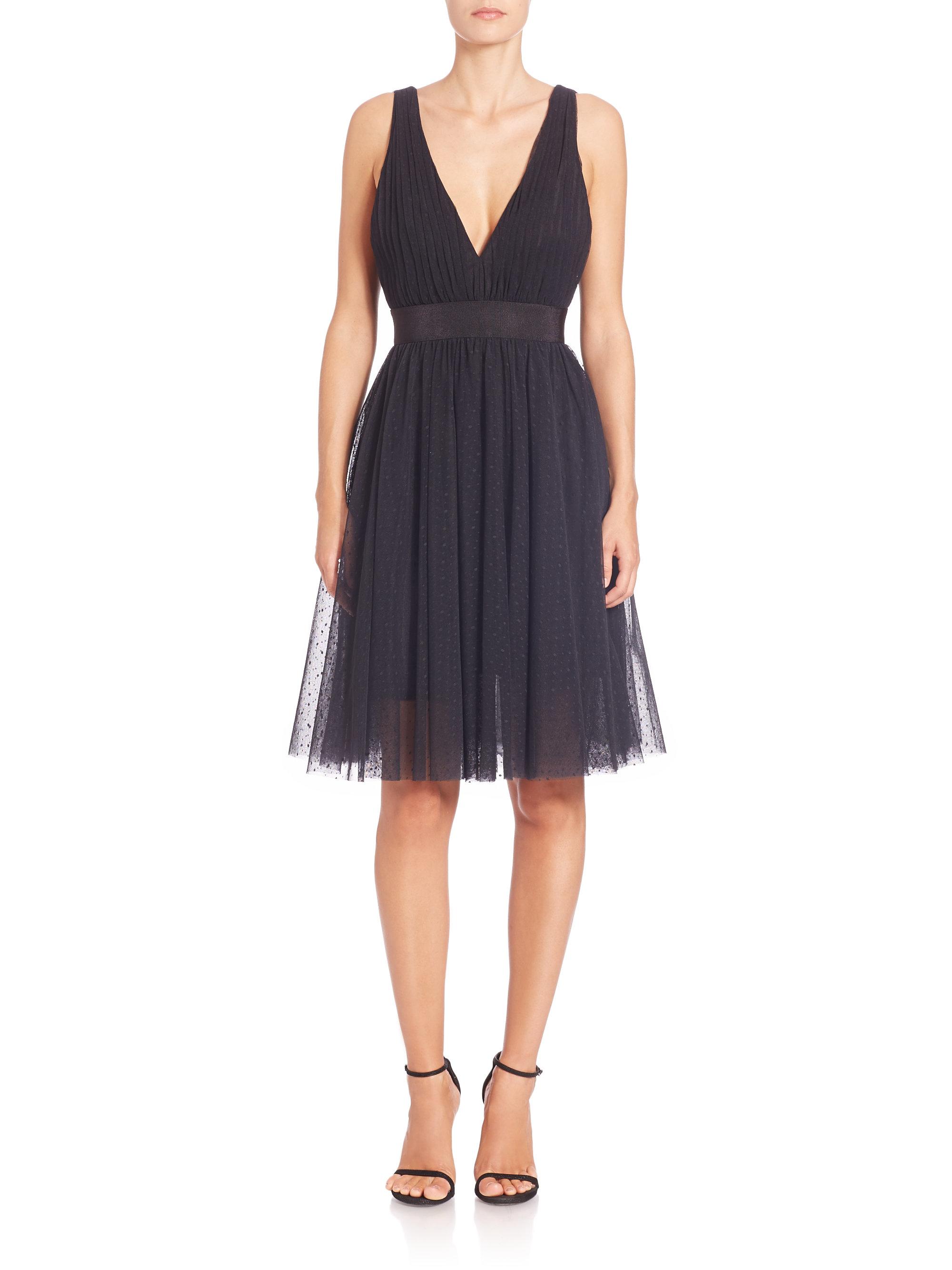Lyst - Abs By Allen Schwartz Tulle Fit-&-flare Cocktail Dress in Black