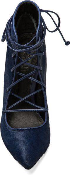 Schutz Alameda Heel in Navy in Blue (Navy)  Lyst