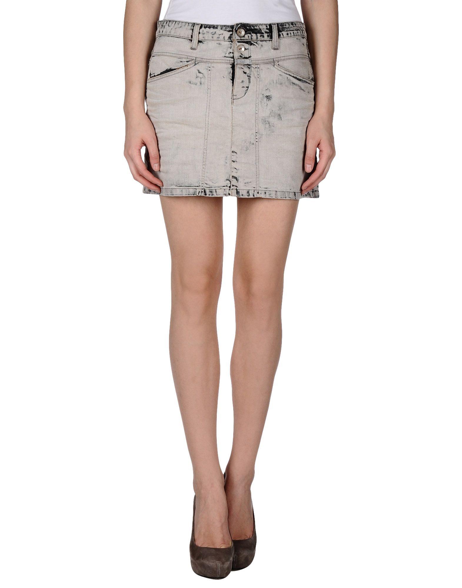 Gray Denim Skirt 20