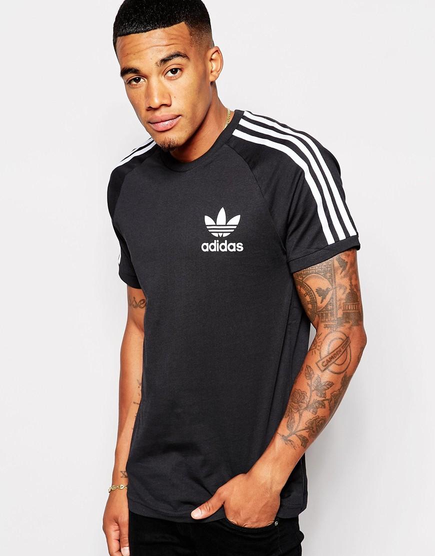 adidas originals california t shirt ab7606 in black for