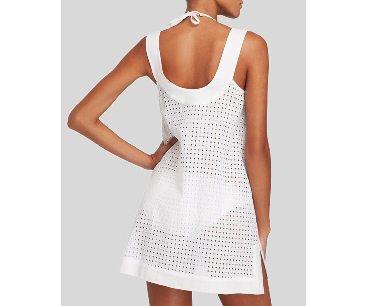 e9aaedebd8 Shoshanna Window Eyelet Beach Swim Cover Up Dress in White - Lyst