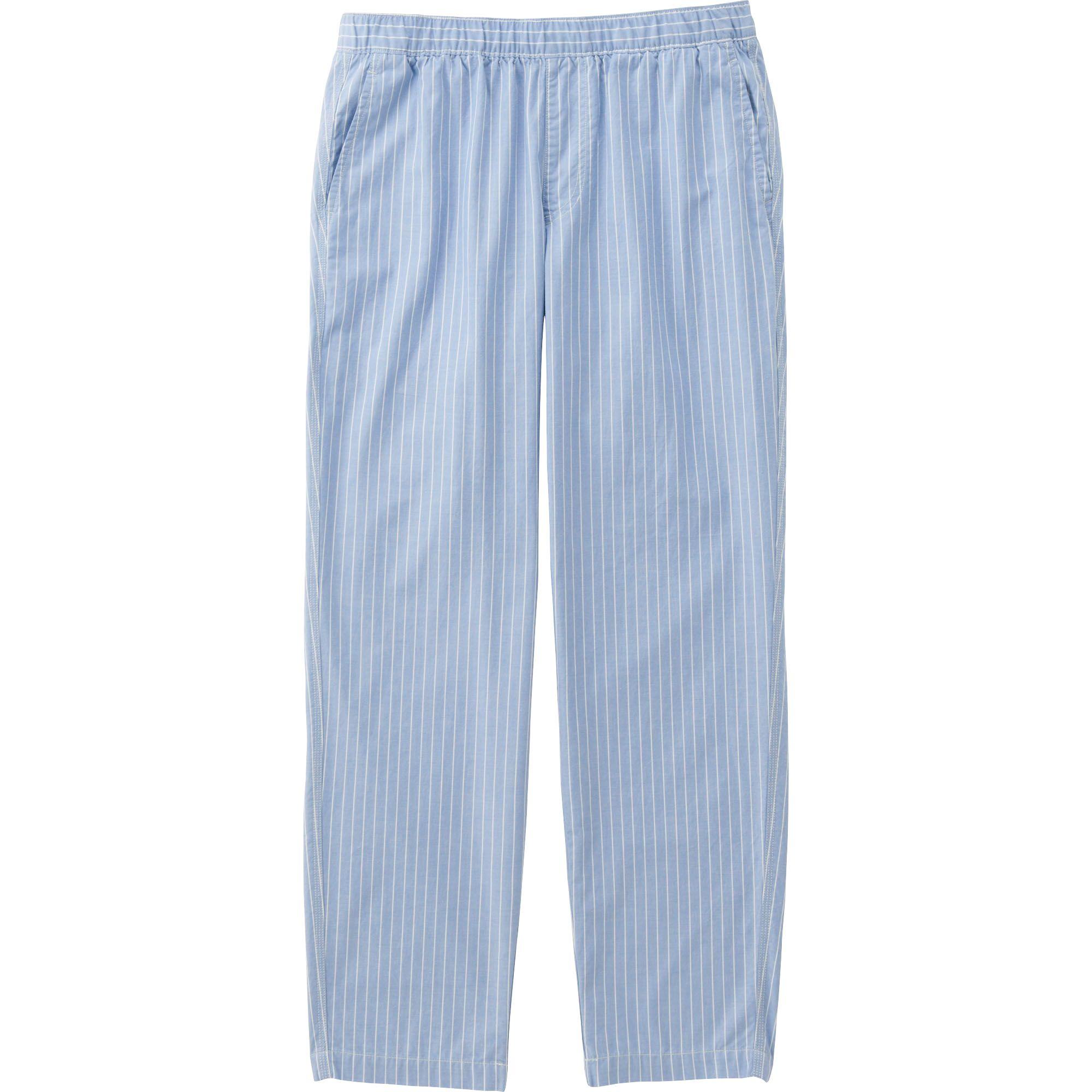 Uniqlo Men's Chambray Elastic Waist Pants in Blue for Men ...