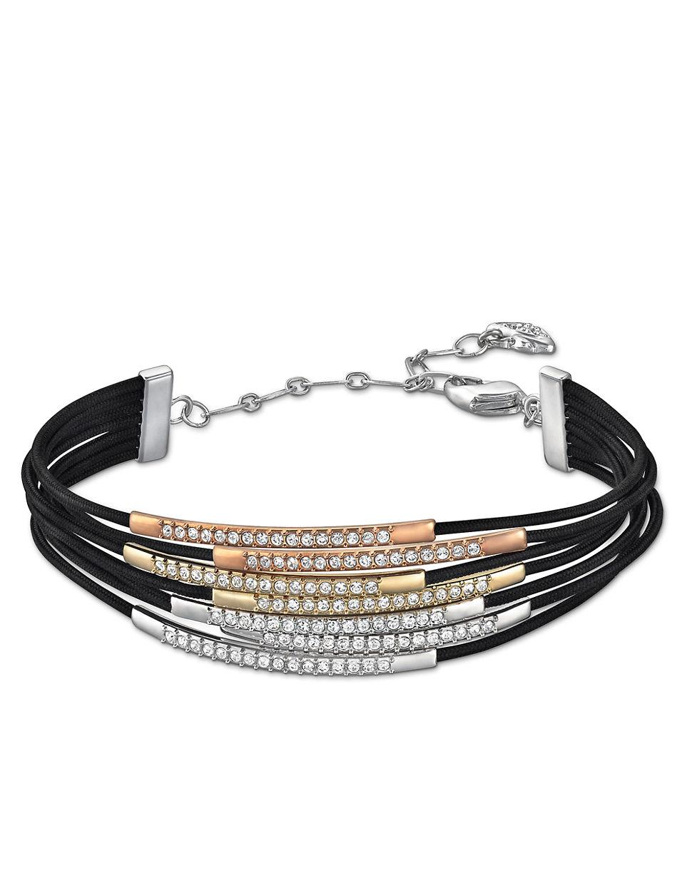 Swarovski Vi Crystal And Tri Tone Bracelet In Black Lyst