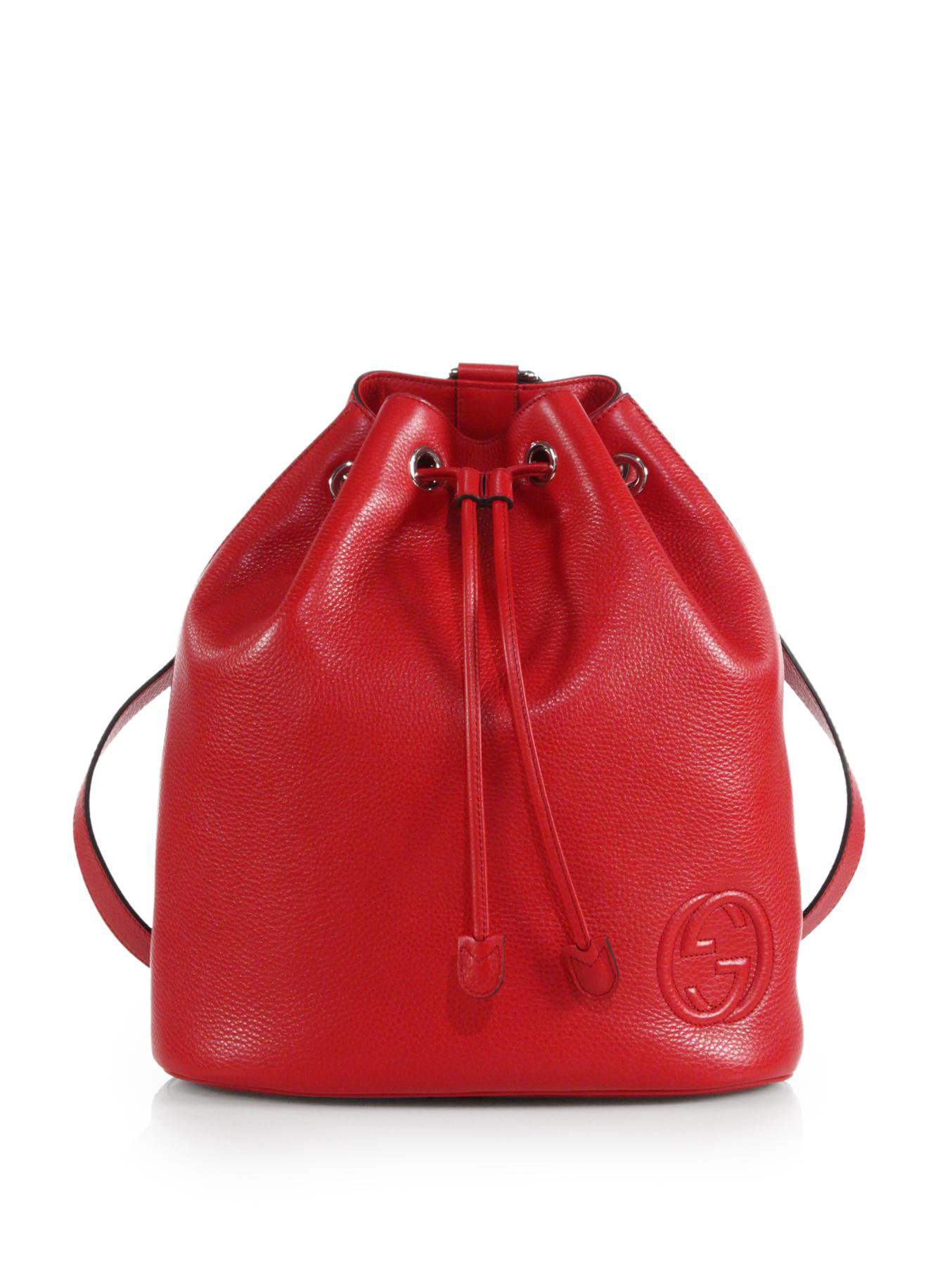 a946f8914d9e Lyst - Gucci Soho Leather Drawstring Backpack in Red for Men