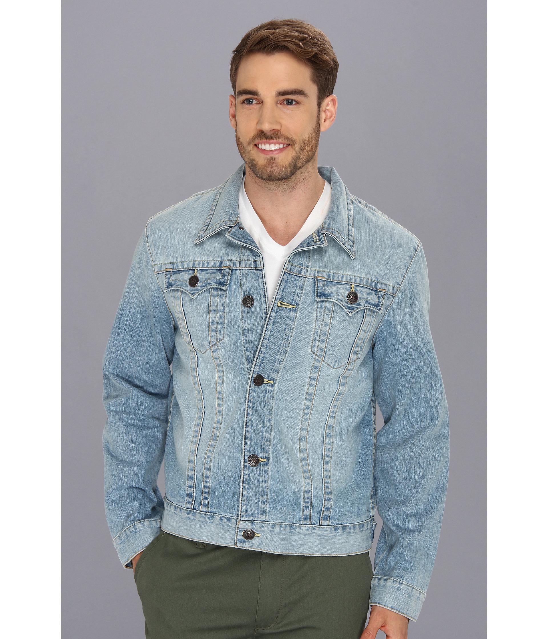 True religion Danny Slim Fit Trucker Jacket in New Beat in Blue ...