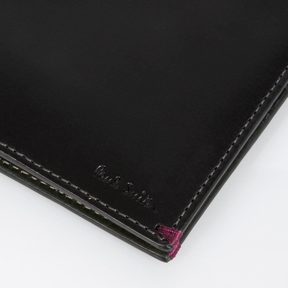 Lyst Paul Smith Men 39 S Black Leather 39 Playing Cards 39 Print Interior Billfold Wallet In Black