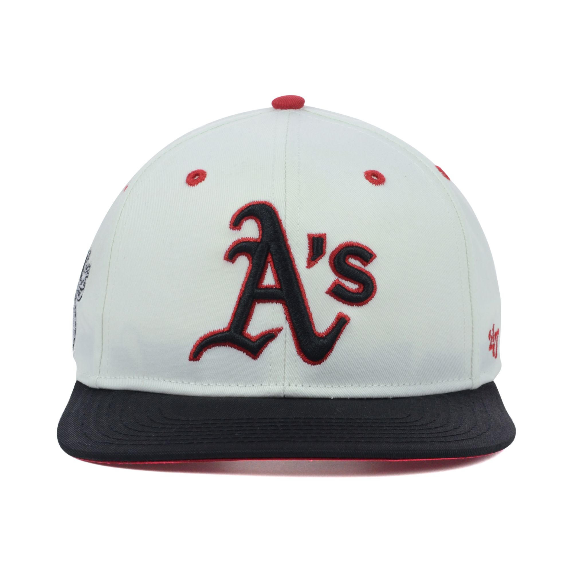 reputable site 9eff0 59019 italy jackie robinson 47 clean up cap 20910217 larger image 37f20 992a7   norway lyst 47 brand oakland athletics red under snapback cap in white  9c630 127cf