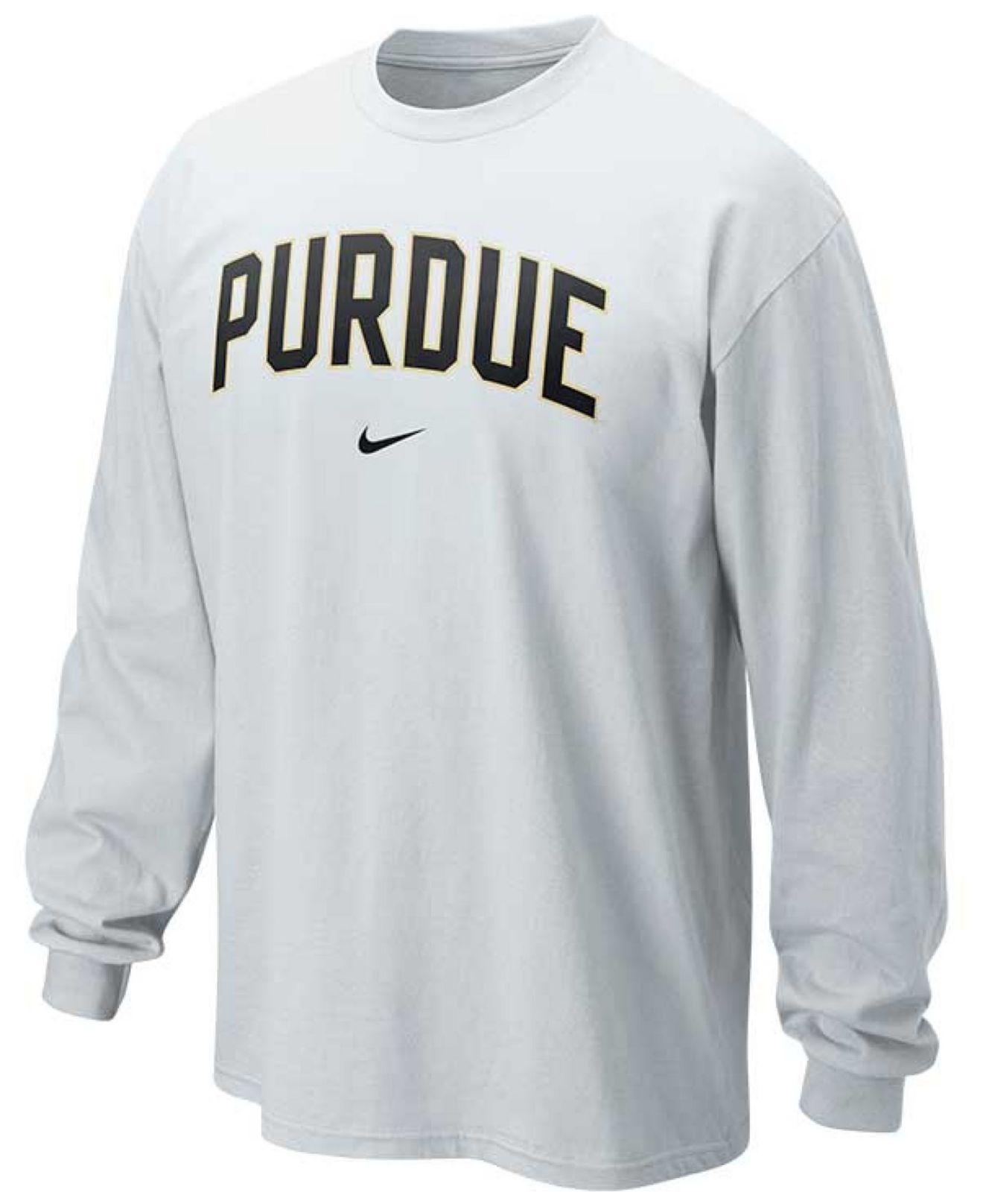 a1f4e299a lyst nike mens long sleeve purdue boilermakers t shirt in white .