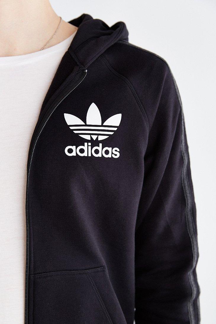 Lyst Adidas Originals Sport Essentials Logo Zip Hooded