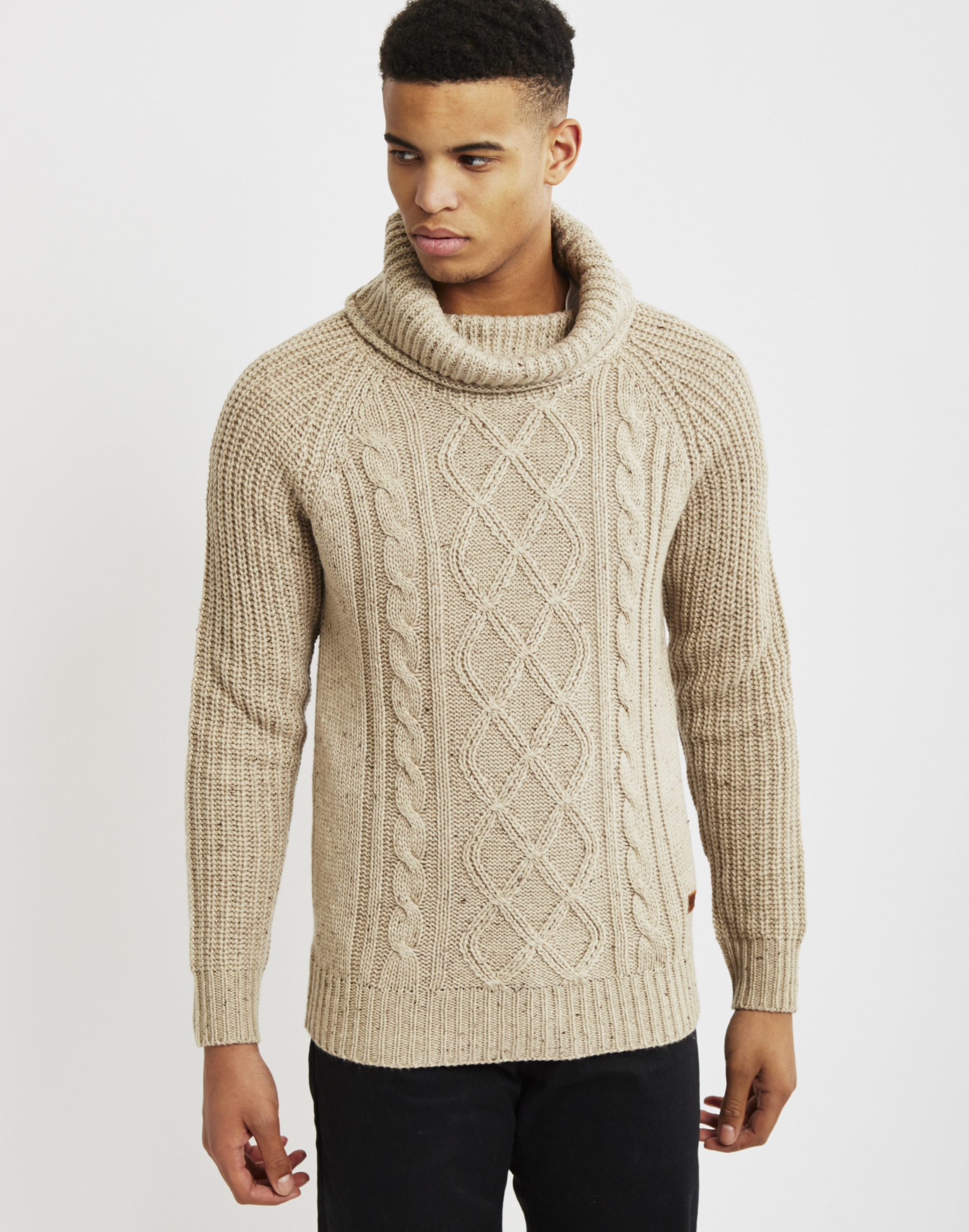 Knitting Mens Jumpers : Lyst only sons mens knitted pullover cable knit jumper