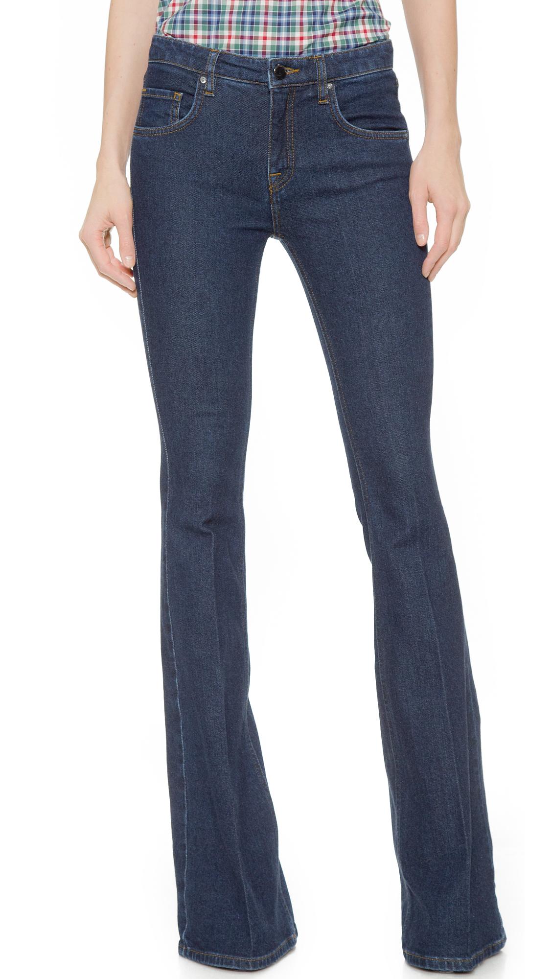 victoria beckham flare jeans seberg in blue lyst. Black Bedroom Furniture Sets. Home Design Ideas