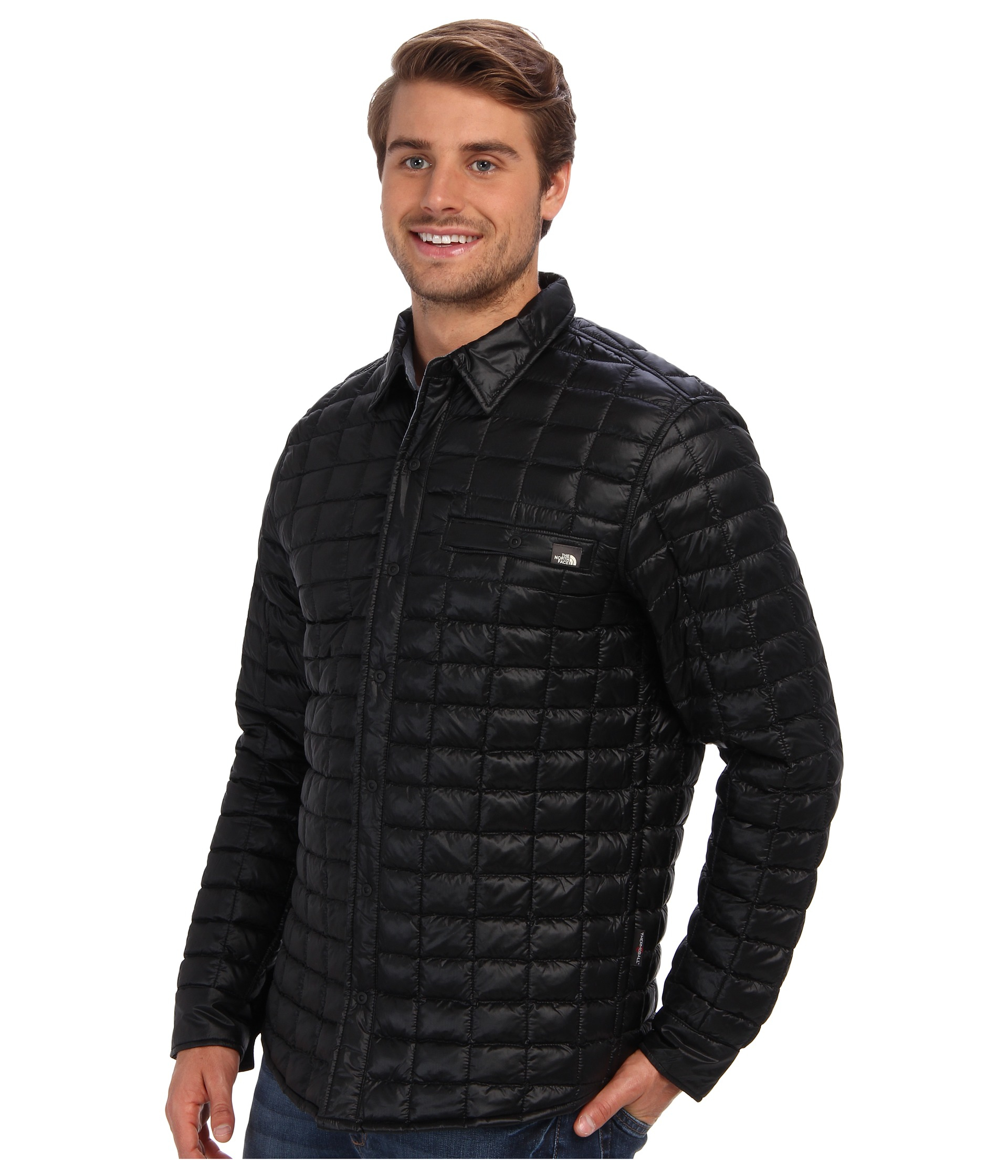 f635d6eaf The North Face Black Reyes Thermoball™ Shirt Jacket for men