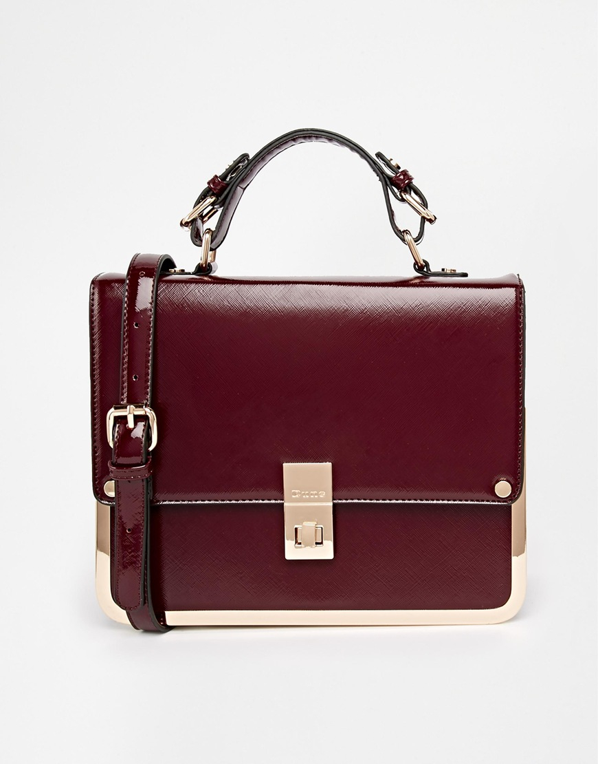 Dune Structured Cross Body Bag in Red | Lyst