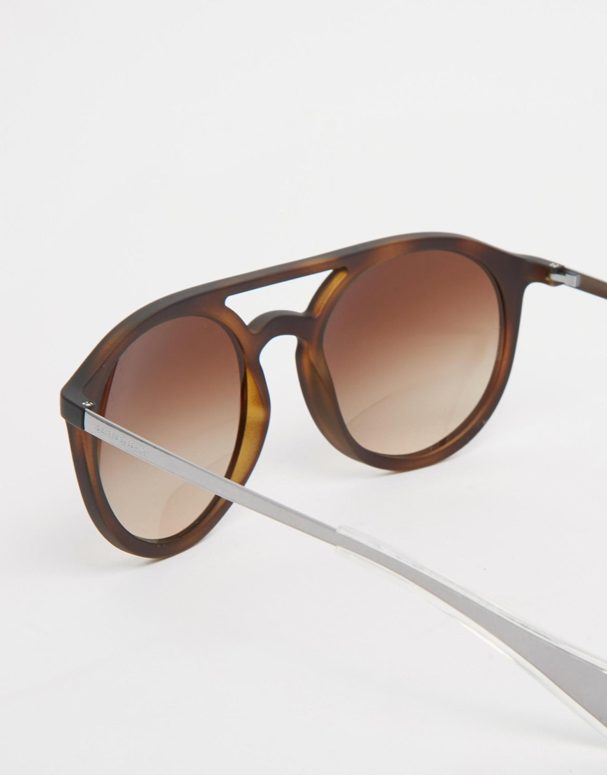 Lyst Dolce Amp Gabbana Round Sunglasses In Brown For Men