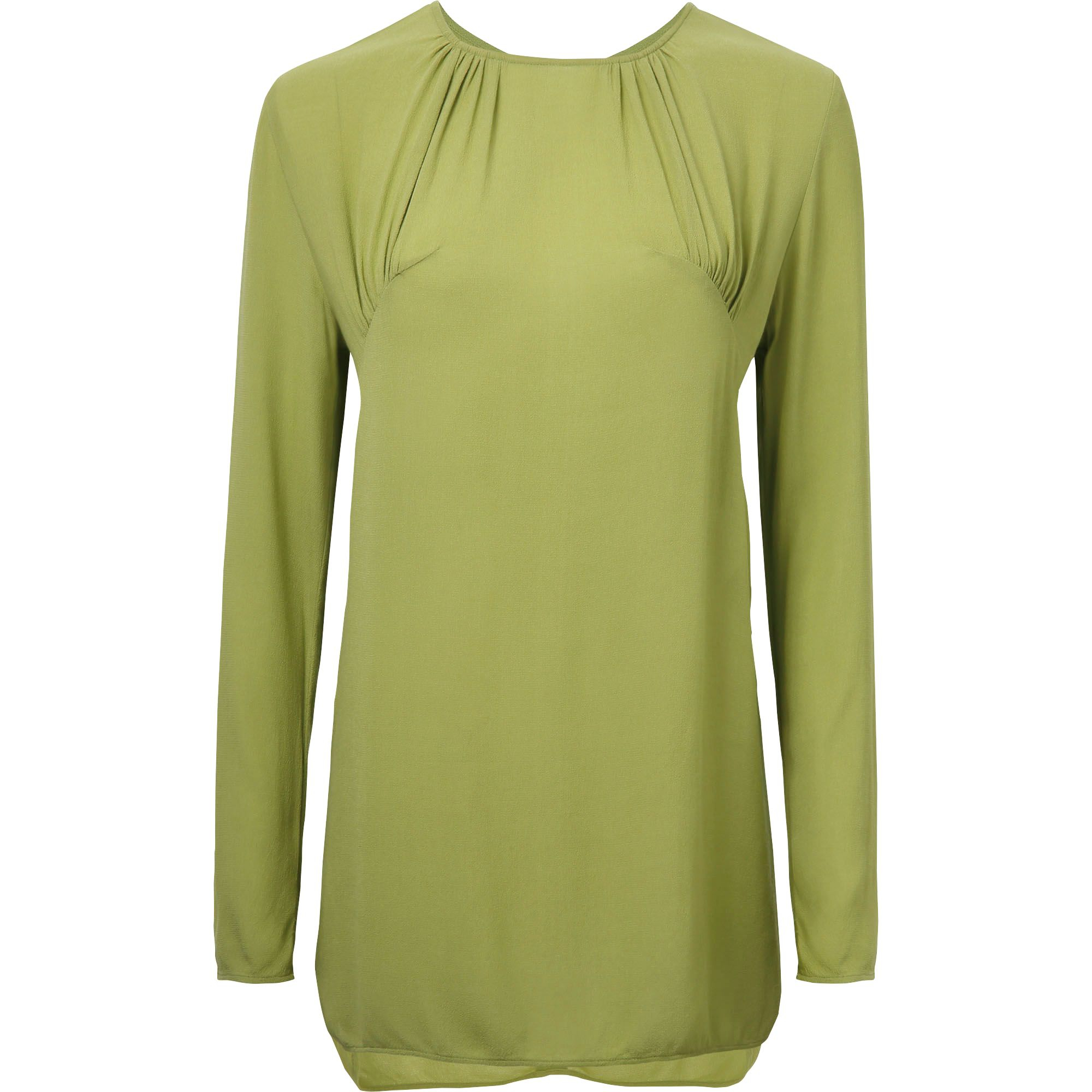 Uniqlo Women Gather Long Sleeve Tunic In Green Lyst