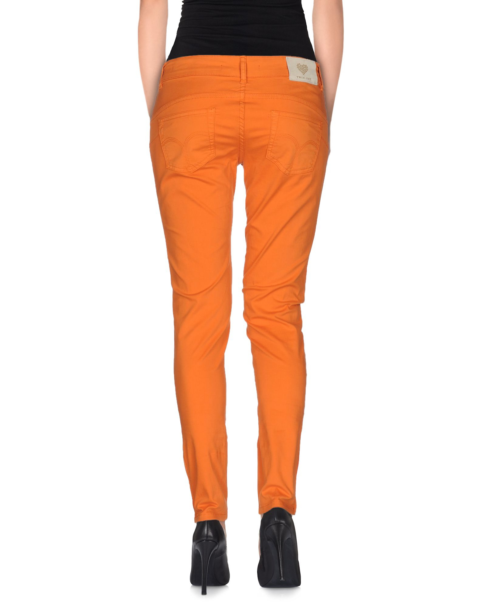 Unique Acne Casual Pants In Orange  Lyst