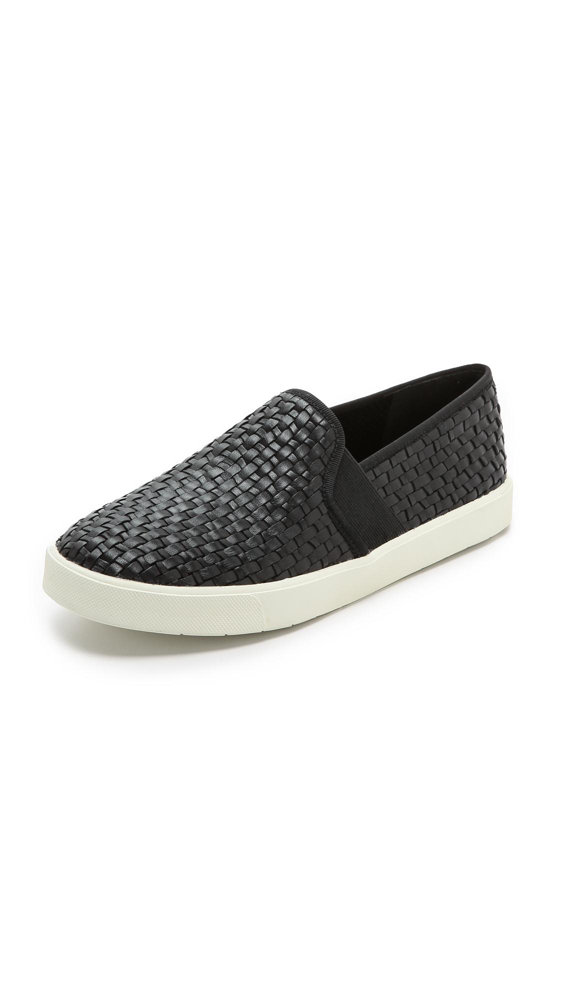 Vince Preston Slip On Sneakers In Black Lyst