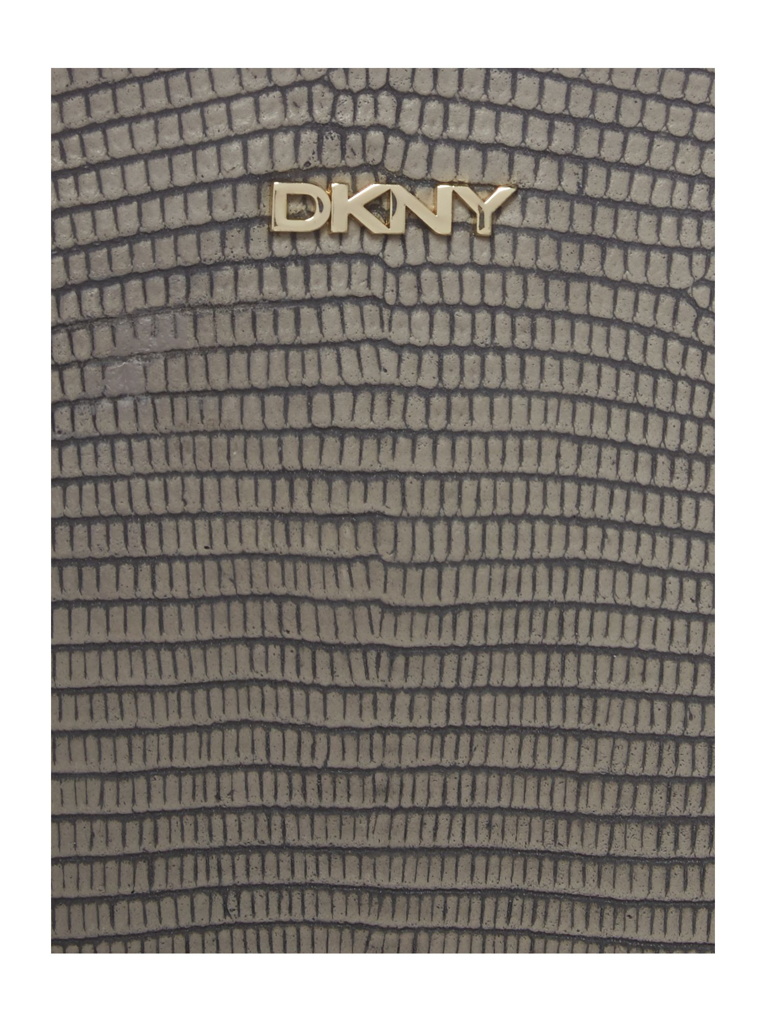DKNY Fashion Taupe Top Zip Cross Body Bag in Grey