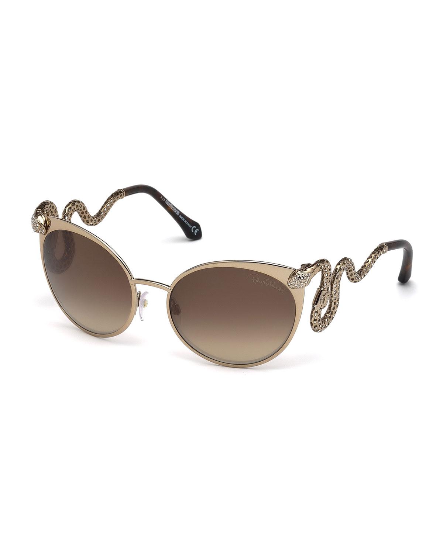 Maui Jim Warranty >> Roberto Cavalli Snake-Temple Cat-Eye Sunglasses - Lyst