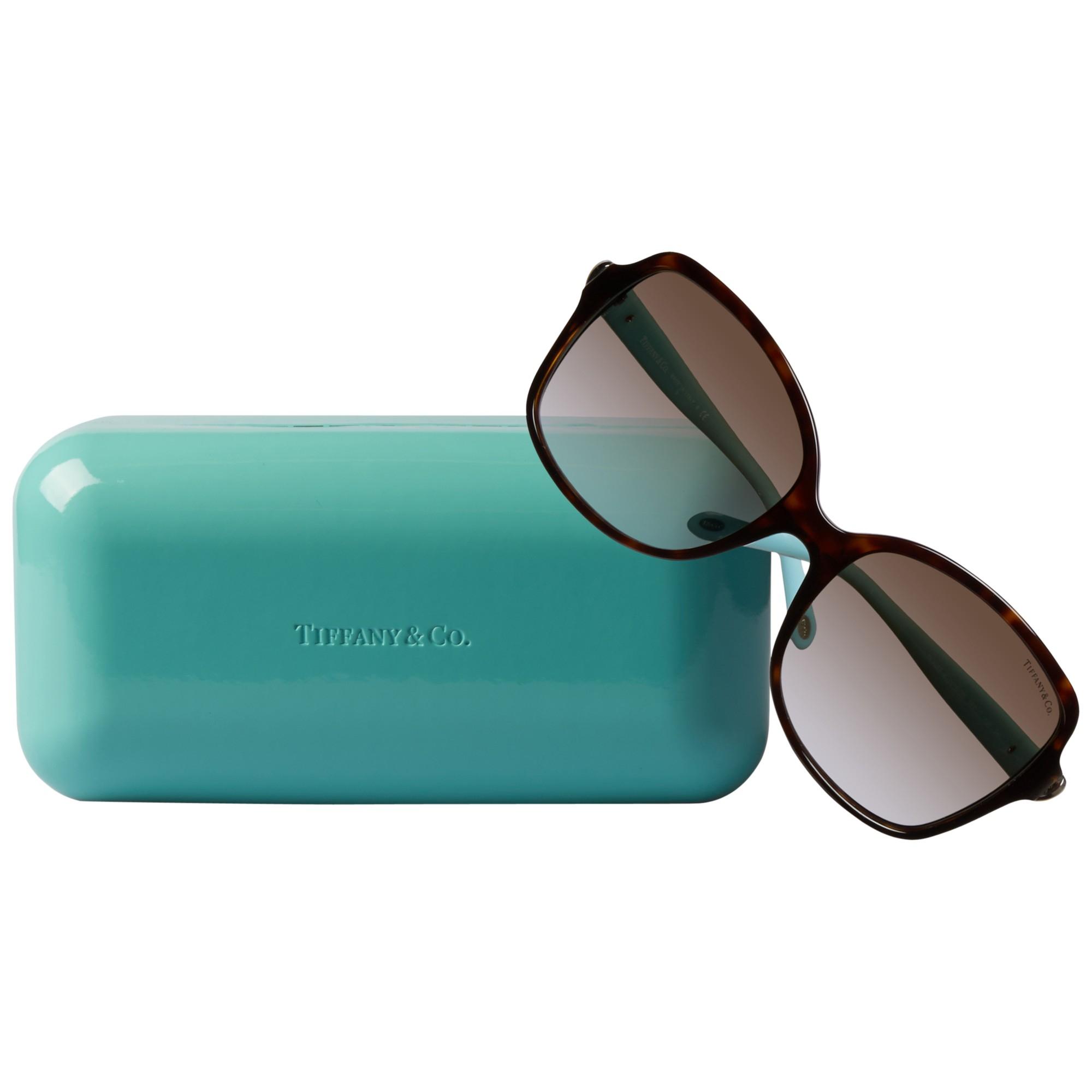 Tiffany & Co. Tf4085H Rectangular Sunglasses in Brown