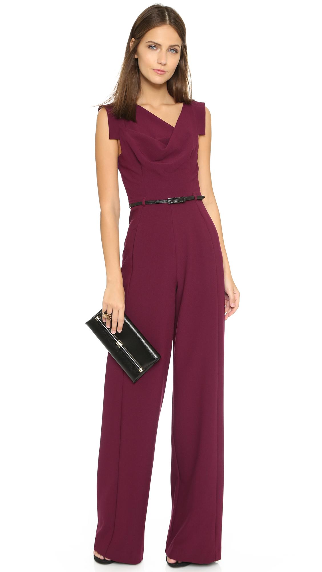 f04154e1 Black Halo Jackie Jumpsuit in Purple - Lyst