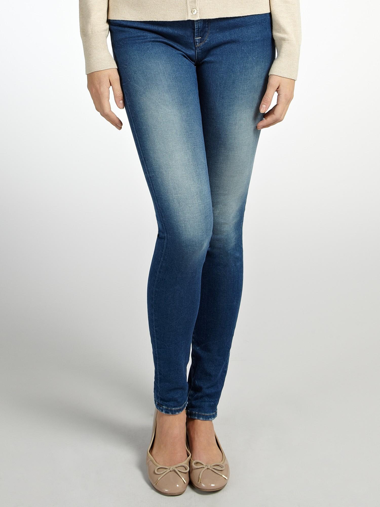 salsa colette skinny jeans in blue denim light wash lyst. Black Bedroom Furniture Sets. Home Design Ideas
