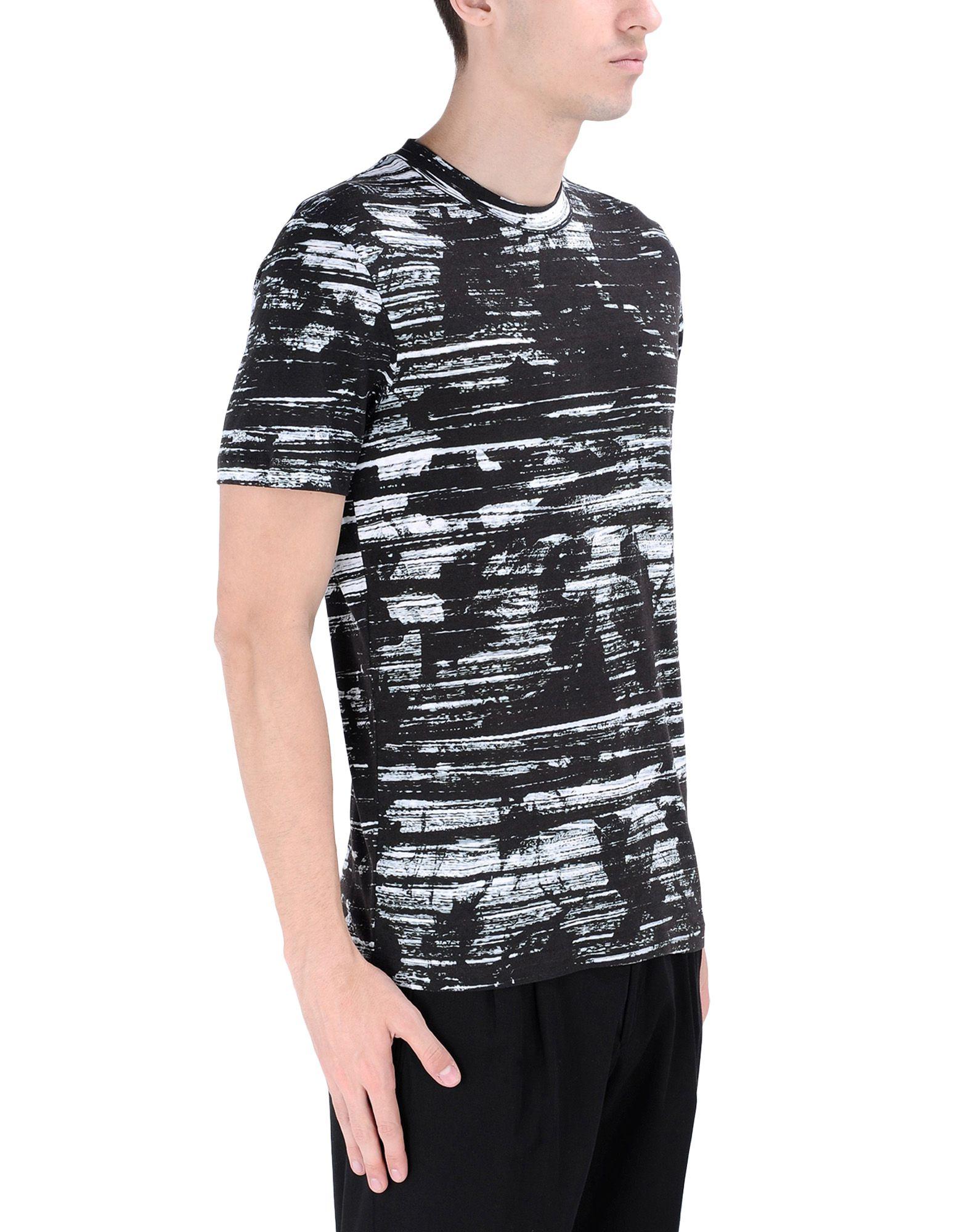 Mcq alexander mcqueen short sleeve t shirt in black for for Alexander mcqueen shirt men