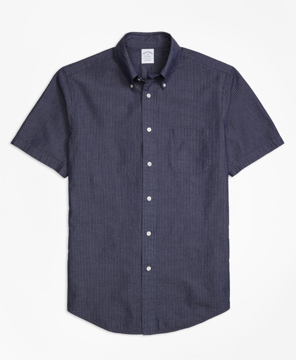 Brooks brothers milano fit seersucker short sleeve sport for Brooks brothers sports shirts