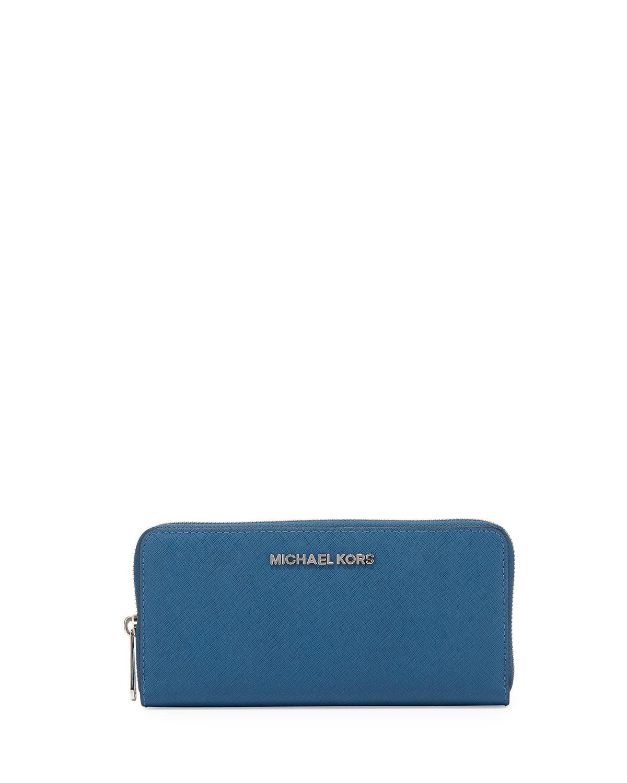 278d5fa8684e49 MICHAEL Michael Kors Jet Set Travel Continental Saffiano Wallet in ...