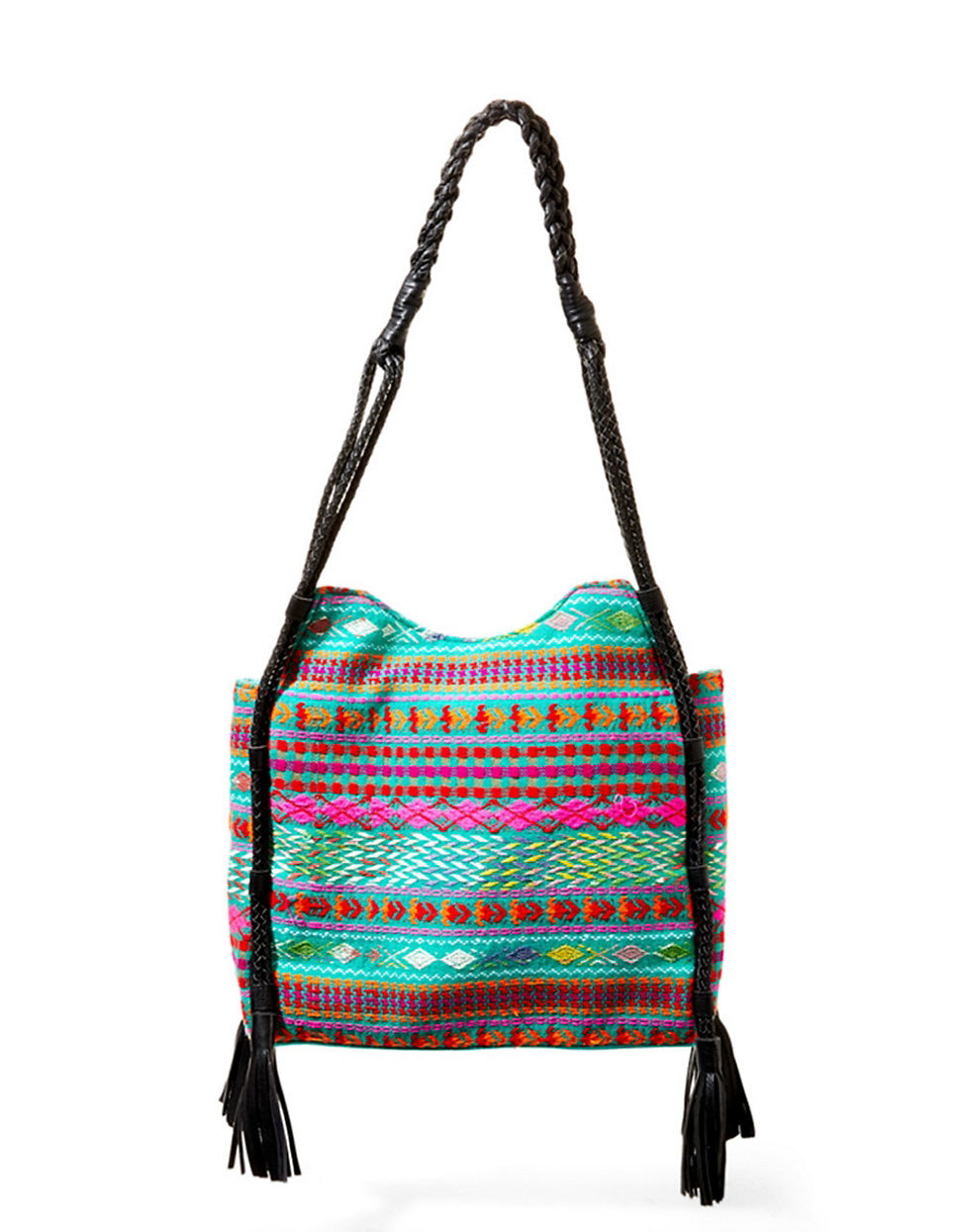 Steven by steve madden Briella Embroidered Hobo Bag | Lyst