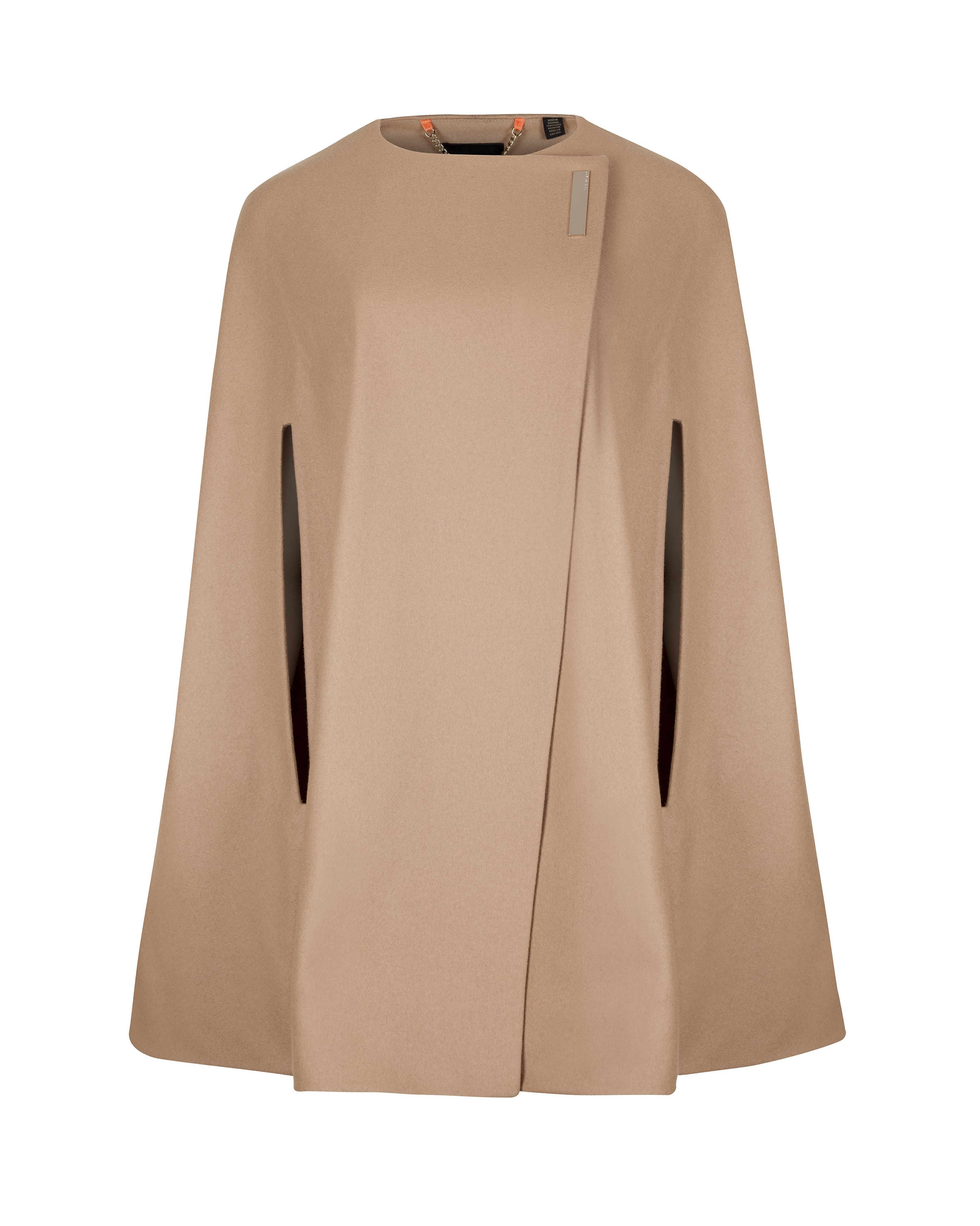 Ted baker Vickiye Wool Cape in Brown (Taupe)