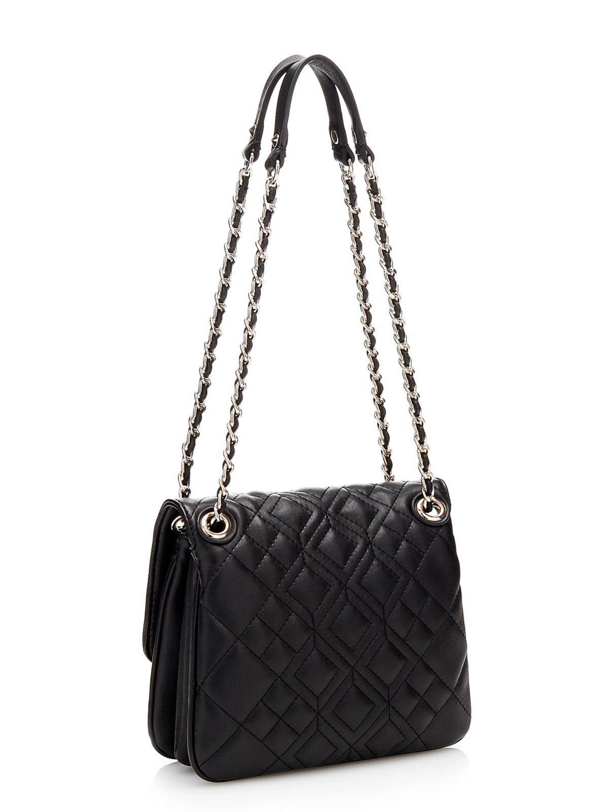 Guess Aliza Quilted Convertible Crossbody Bag In Black