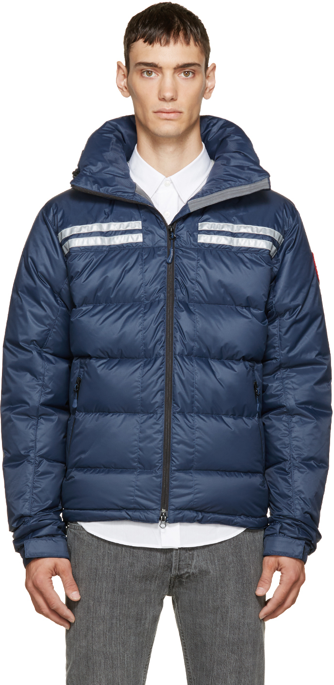 Canada Goose Blue Down Summit Jacket In Blue For Men Lyst