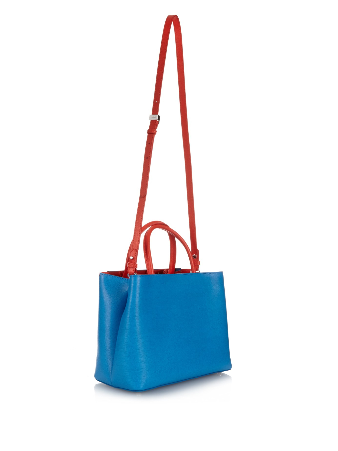 Lyst - Fendi Petite 2Jours Bag Bugs Leather Cross-Body Bag in Blue a834ab03c3e91