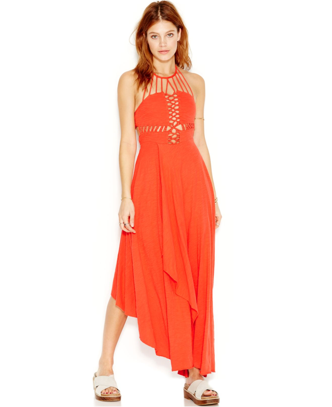 Free people Beautiful Stranger Cutout Maxi-Dress in Red | Lyst