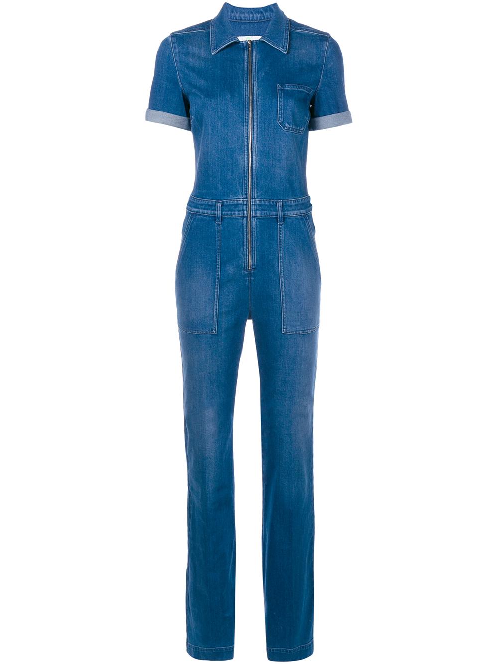 f750bd3262b Stella McCartney Denim Jumpsuit in Blue - Lyst