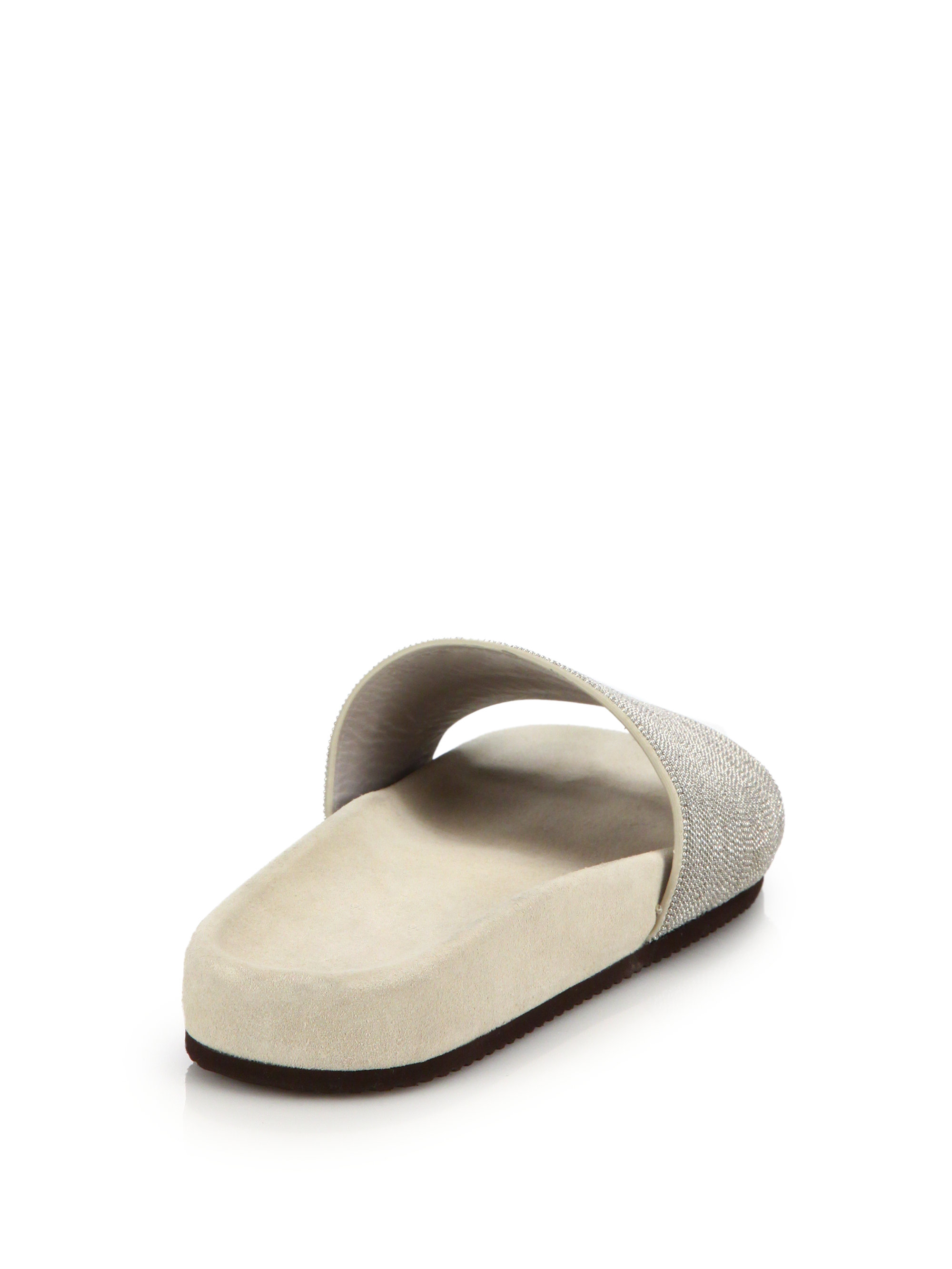 with paypal cheap online Brunello Cucinelli Leather Monili Sandals clearance lowest price buy cheap genuine original for sale 04iXB